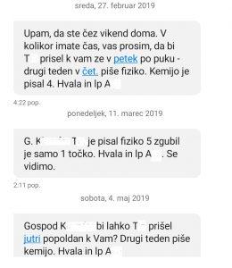 Kemij in Fizika - 3. letnik, prof Anita Mustač, prof_Črček - maj 2019