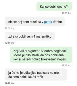 Matematka, redni test, prof Žižek, SEŠG - december 2020
